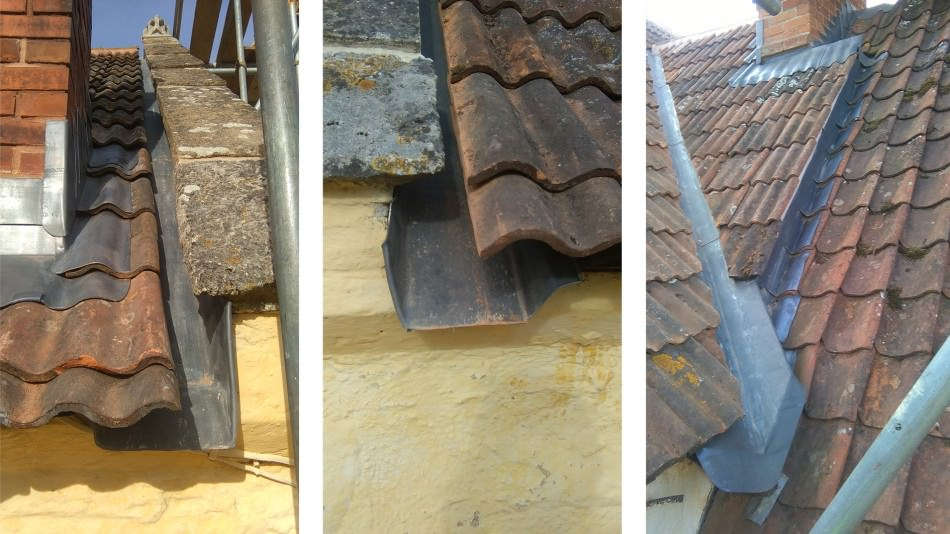 Gurney Manor reroofing conservation leadwork