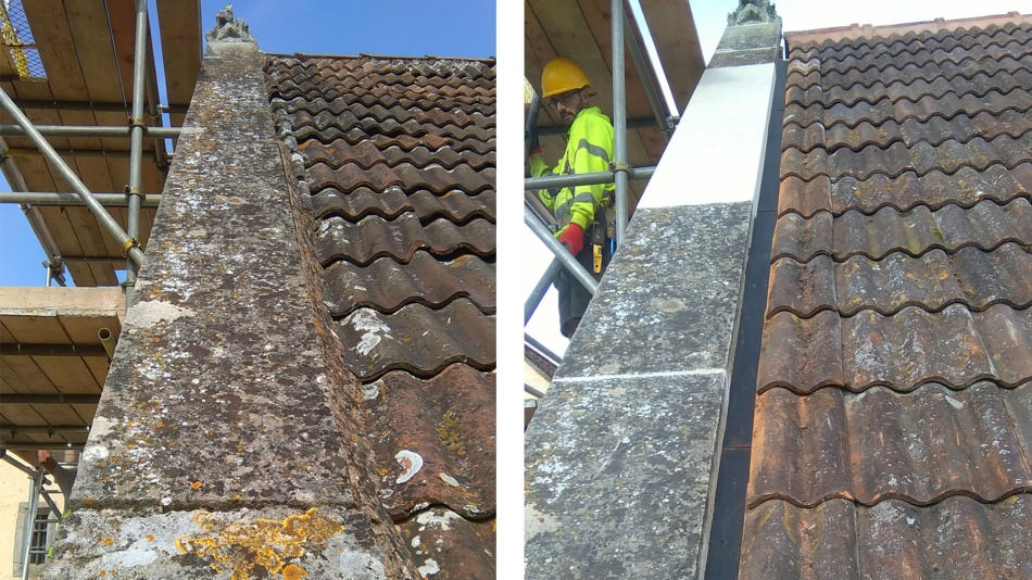 Gurney Manor reroofing conservation new stone