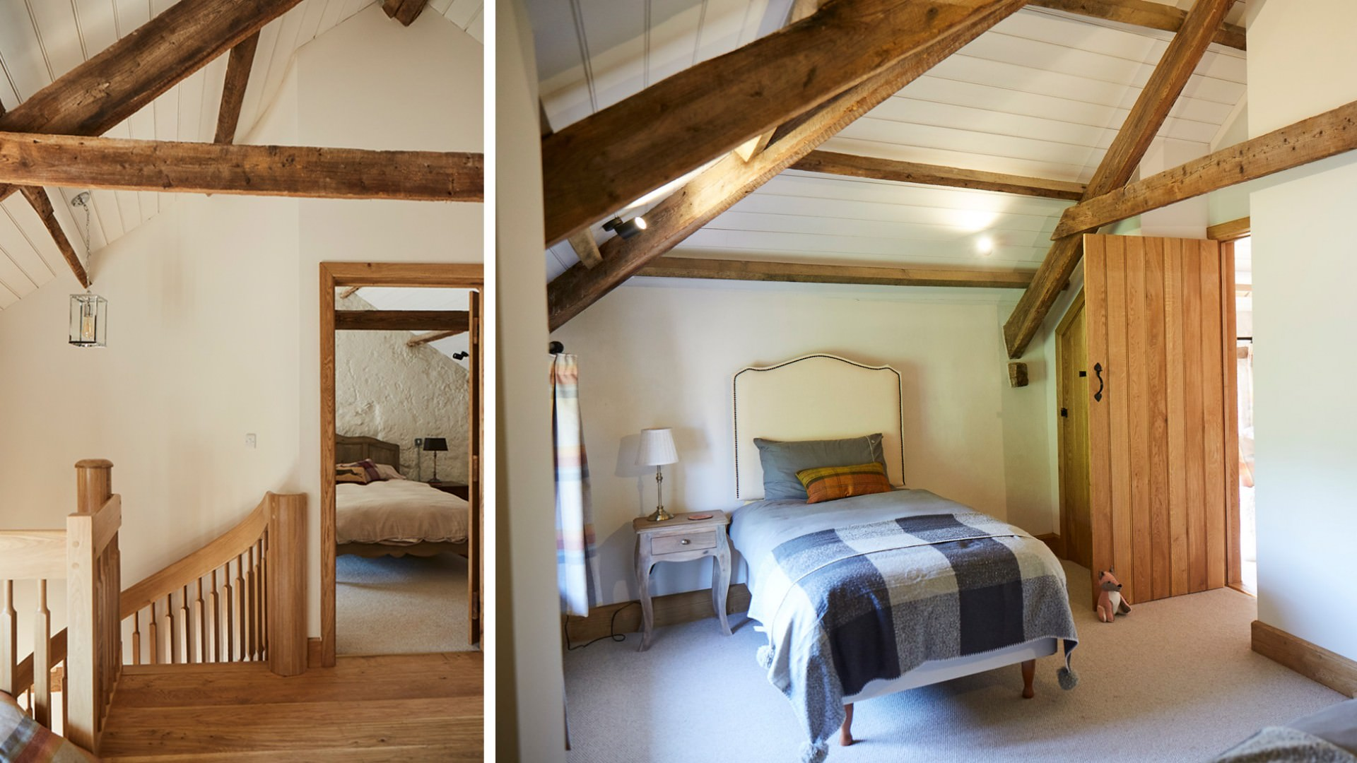9 1137A barn conversion conservation stairs and bed