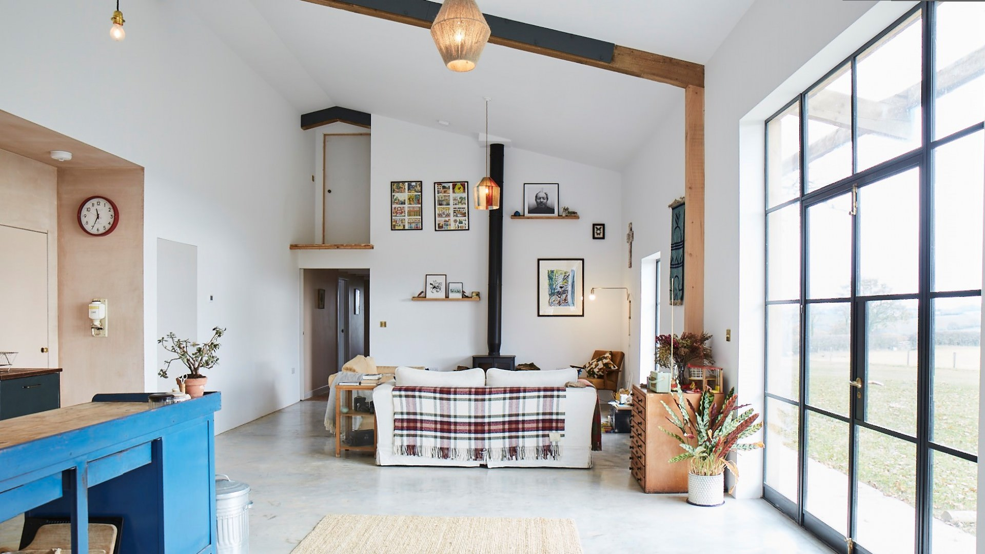 3 architects barn conversion wood burner
