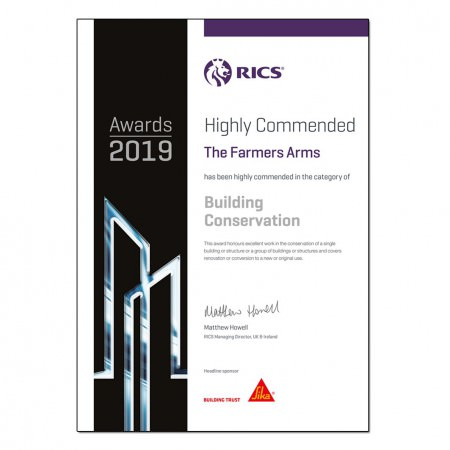 RICS award highly commended thumbnail