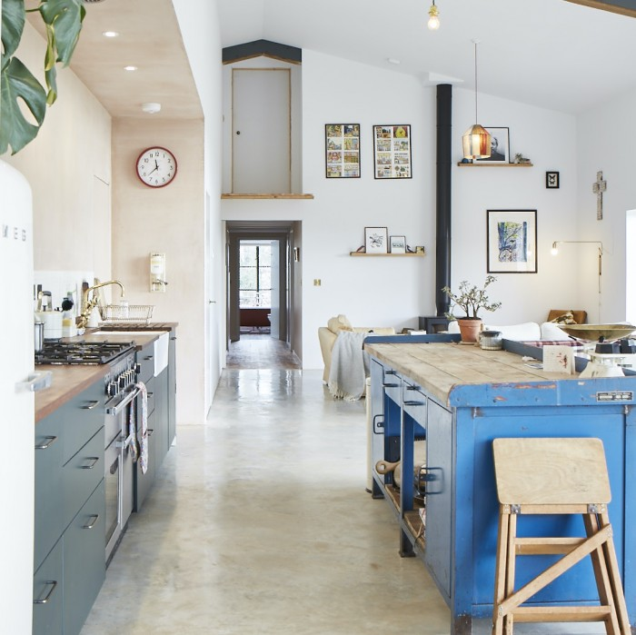 barn conversion open plan kitchen living space