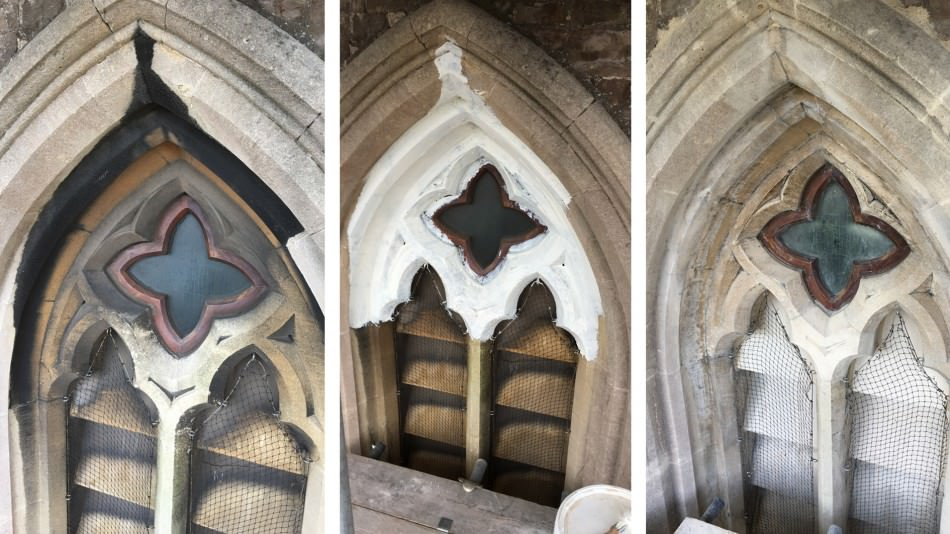 Christ Church conservation sandstone cleaning
