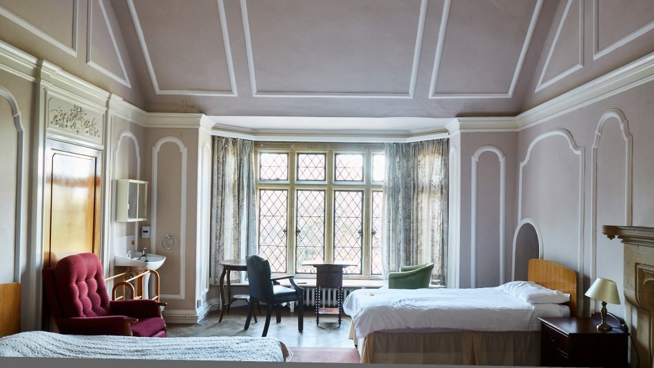 Halsway conservation historic bedroom