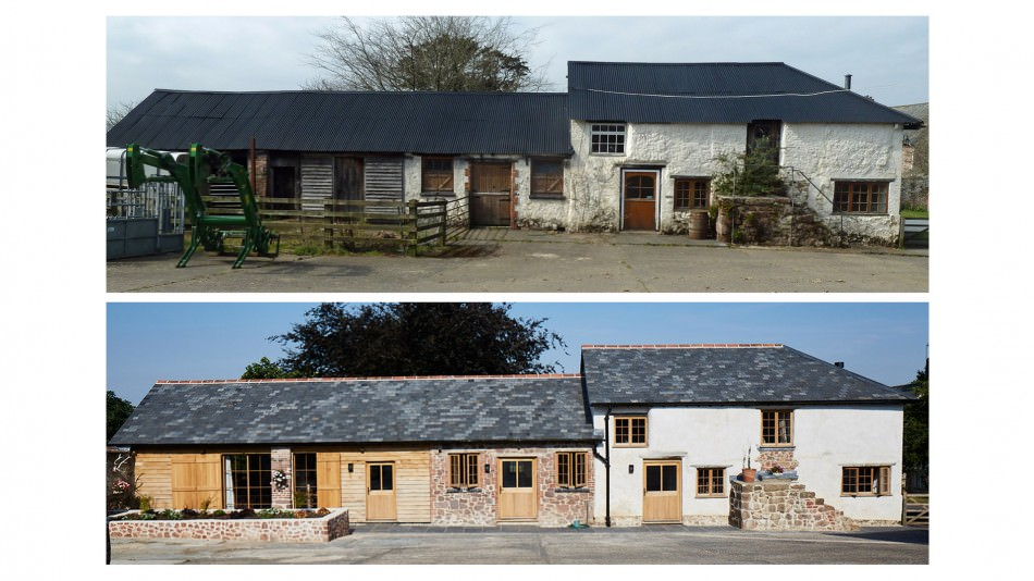 Holcombe Burnell barn conversion exterior