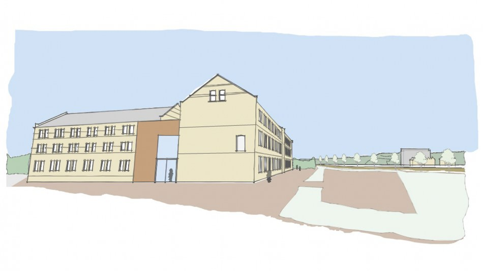 Petroc HNC design project listed building massing